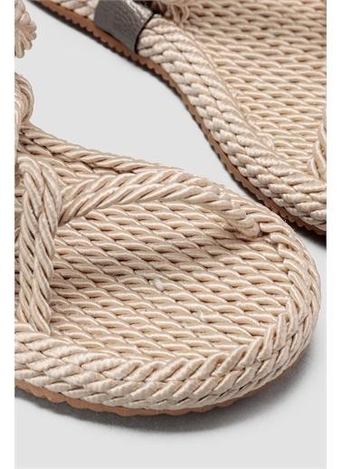 Limoya Jaylene Açık-Vizon Halat Sandalet Ten